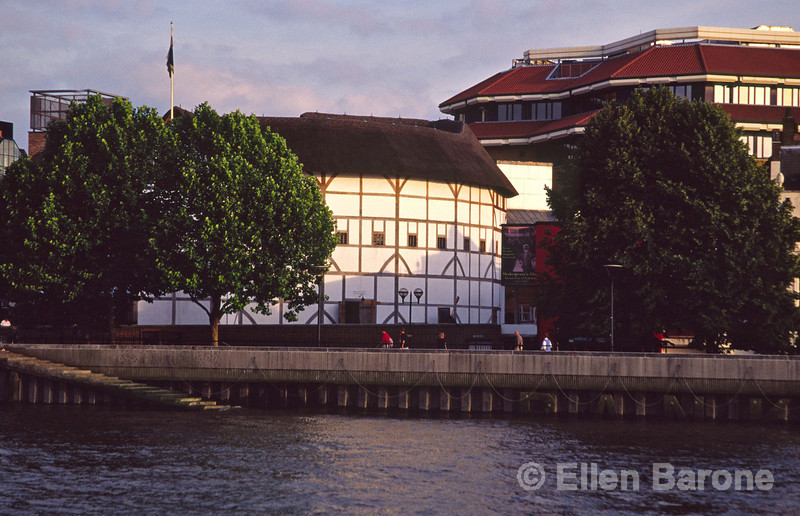 Shakespeare's Globe, opened in 1997, is a faithful reproduction of an Elizabethan theatre, close to the site of the original Globe where many of Shakespeare's plays were first performed, London, England.