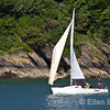 Sailing yacht, River Dart, Dartmouth, south Devon, U.K.