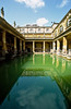 The Great Bath, built in the 1st century this bathing complex is one of Britian's greatest memorials to the Roman era, Bath, England.
