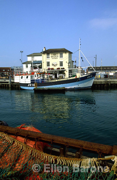 The Bridge Tavern, fishing port, Portsmouth, England.