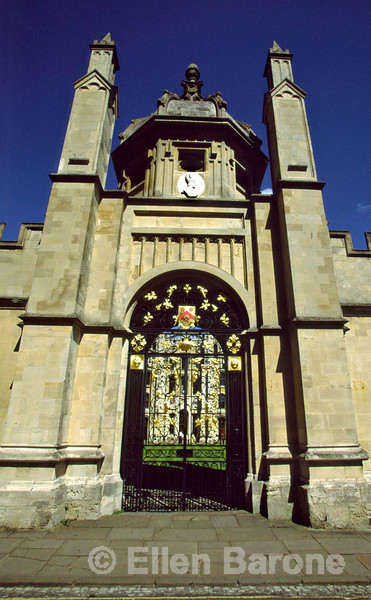 Robust masonry, graceful archways, and golden sandstone, iconic images, Oxford, England