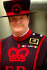 Ray Stones, Beefeater, one of 40 Yeoman Warders who guard the Tower of London. Their uniforms hark back to Tudor times. Tower Of London, London, England. (Model Release#0069)