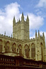 The spectacular Bath Abbey dominates the city skyline, Bath, England