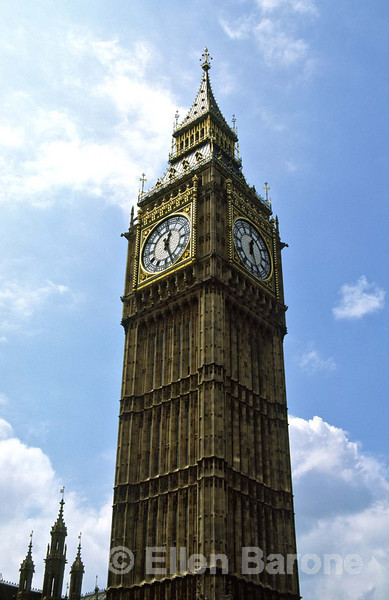 The 14-tonne bell Big Ben, hung in 1858, Houses of Parliament, London, England.