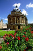 The Radcliffe Camera, a domed Baroque rotunda built by James Gibbs as a memorial to the physician Dr. John Radcliffe, is perhaps the city's most recognizable building, Oxford, England