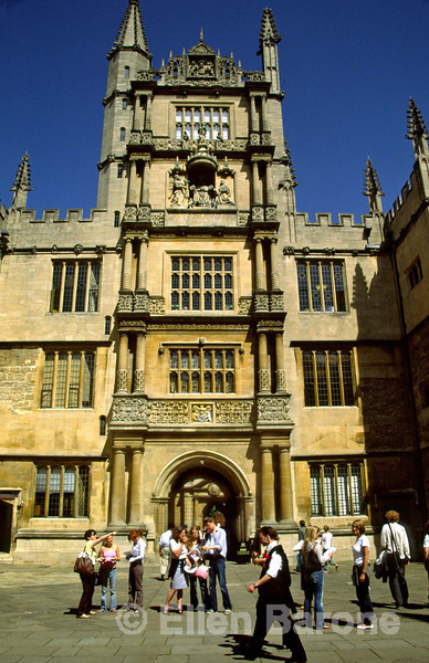 Main entrance, Bodleian Library, Oxford, England