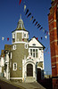 The Guildhall dates back to the Stuart period, Lyme Regis, Dorset Coast, England.