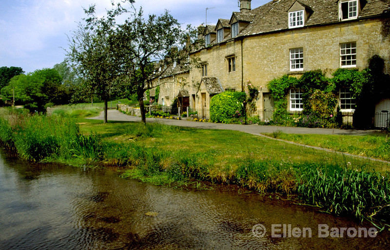 The lovely Cotswold village of Castle Combe is situated along the lovely banks of the river Bybrook, England.