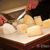 Local cheeses, the Mill End Hotel, Chagford, Dartmoor National Park, Devon, England, U.K.