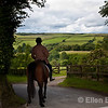 Horse and rider, Exmoor National Park, North Devon. England, U.K.