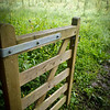 The ubiquitous farm gate, public footpath, Devon, England, U.K.