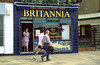 Britannia, Fish & Chip shop, seaside resort town of Weymouth, Dorset coast, England.