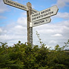 Directional sign, Devon, England, U.K.