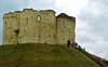Clifford's Tower, was built when York Castle was rebuilt in 1245 and 1265, York, Yorkshire, England.