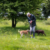 A local farmer with dogs near Withypool, Exmoor National Park, Somerset. England, U.K.