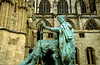 Statue of Constantine, York Minster, York, Yorkshire, England.