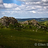 View of Grea Tor, a heavily weathered granite outcrop atop Dartmoor National Park, Devon, England, U.K.