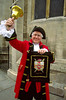 Town crier, John Redpath, York, Yorkshire, England. (model released)