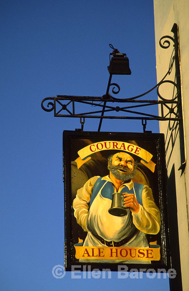 Pub sign, Courage Ale House, Bath, England.