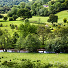 Scenic landscape, the River Exe near Withypool, Exmoor National Park, Somerset. England, U.K.