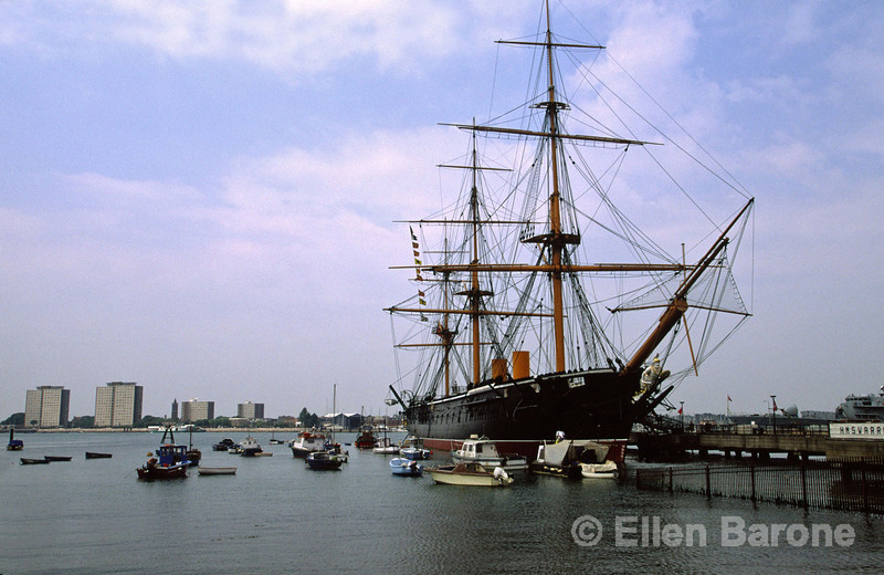 The 19th century HMS Warrior, Portsmouth, England.