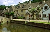 The lovely Cotswold village of Castle Combe is situated along the bank of the river Bybrook, the Cotswolds, England.