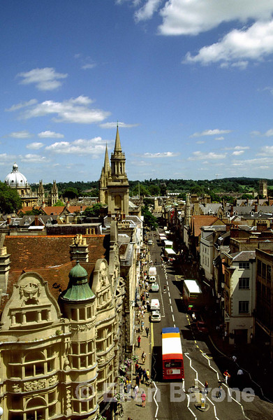 High Street as viewed from Carfax Tower, Oxford, England.