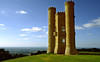 Situated on the edge of the Cotswold escarpment the Broadway Tower was built on a whim by the Earl of Coventry for his Countess, near Broadway, the Cotswolds, England.