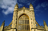 The spectacular Bath Abbey standing at the heart of the old city was begin by Bishops Oliver King in 1499, rebuilding a church that had been founded in the 8th century, Bath, England.