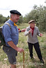 Wayfarers' guide and local, Vaugines, Provence, France, Europe