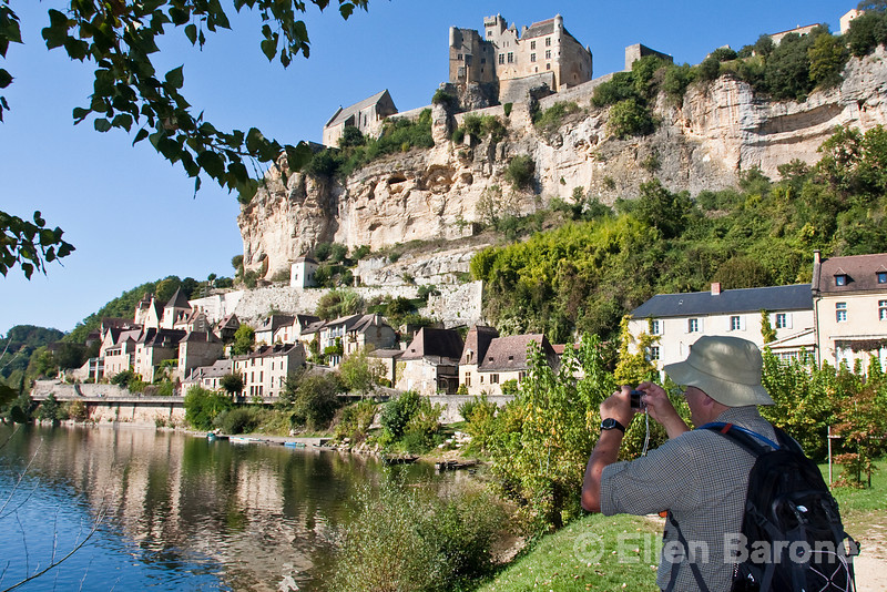 Stopping for a photograph at picture-perfect Beynac along the Dordogne River, France.