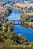Panoramic view of the Dordogne River, Domme, France.
