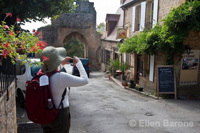 Photographing in Domme, France.