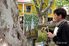 An artist paints the lovely village of Cucuron, Provence, France, Europe