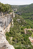Deep and dramatic gorges punctuate the provençal landscape near Bonnieux in the Luberon region of Provence, France, Europe.