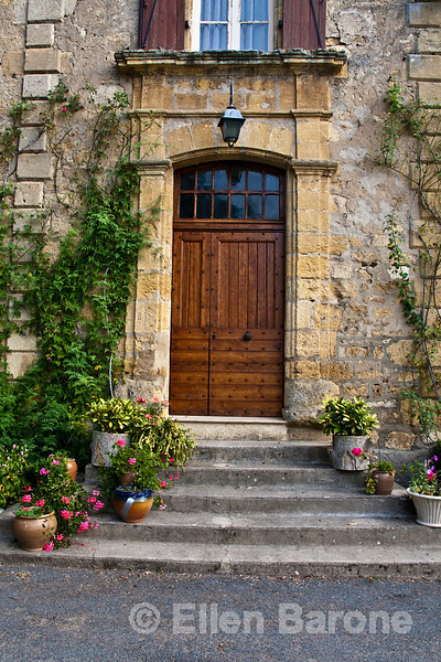 Country manor home, door, entrance, near Beynac, France