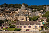 Hotel Belle Etoile and the cliffside village of la Roque Gegeac, France.