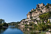 The Dordogne River and village of Beynac, France.