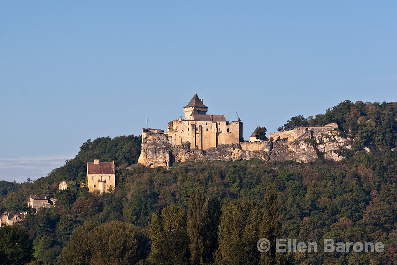 The majestic Castlenaud, the largest and best restored of the region's castles, Dordogne River valley, France.