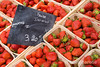 Juciy ripe strawberries for sale in Gordes, Vaucluse Plateau, Provence, France, Europe