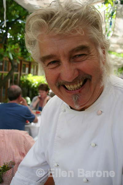 A friendly chef at Auberge de la Loube in Buoux, the Luberon, Provence, France, Europe.