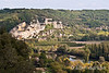 La Roque Gageac as viewed from Chateau o Marquayssac, Dordogne, France.