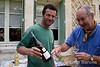 Wayfarers walkers enjoy a private wine tasting at the Domaine Ruffinatto in Menerbes,the Luberon, Provence, France, Europe