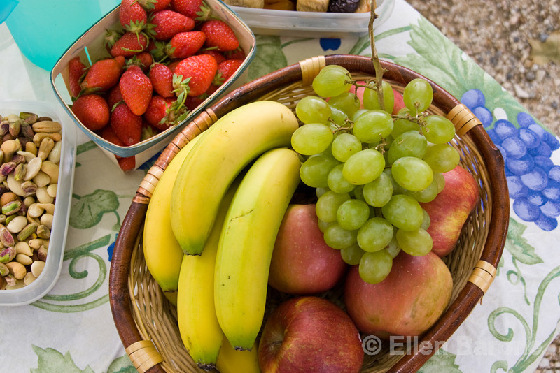 Fresh fruits, provençal picnic, Provence, France, Europe