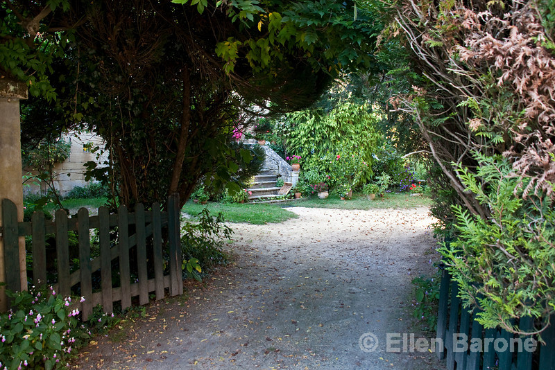 Entry gate, country home, Dordogne River valley, France.