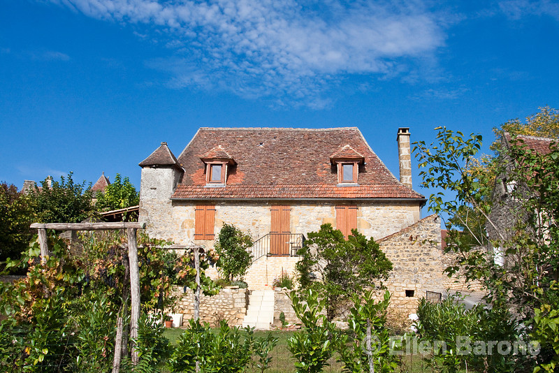A traditional village home, Dordogne River valley, France.