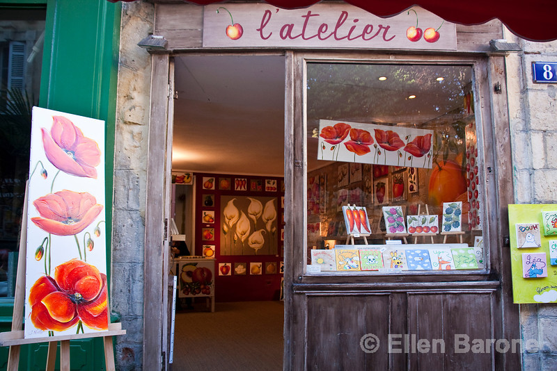 Art gallery, Sarlat, France.