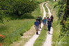 Wayfarers walkers near Lacoste in the Luberon, Provence, France, Europe