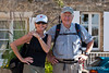 Wayfarers Judy Allpress and Mike Kahn, Domme, France.