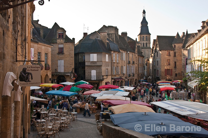 Saturday market, Sarlat, France.
